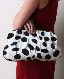 polka dot clutch purse