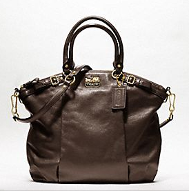 Brown leather bag from Coach