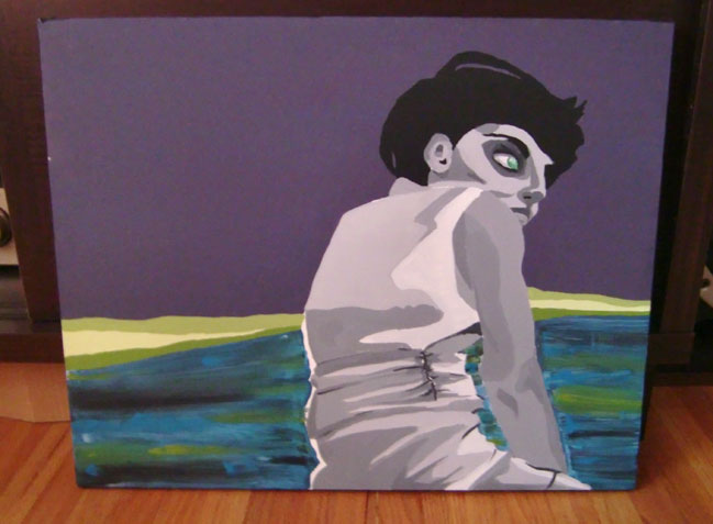 Zombie Girl painting by Kristen Lourie