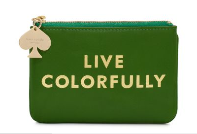 kate spade live colorfully coin purse