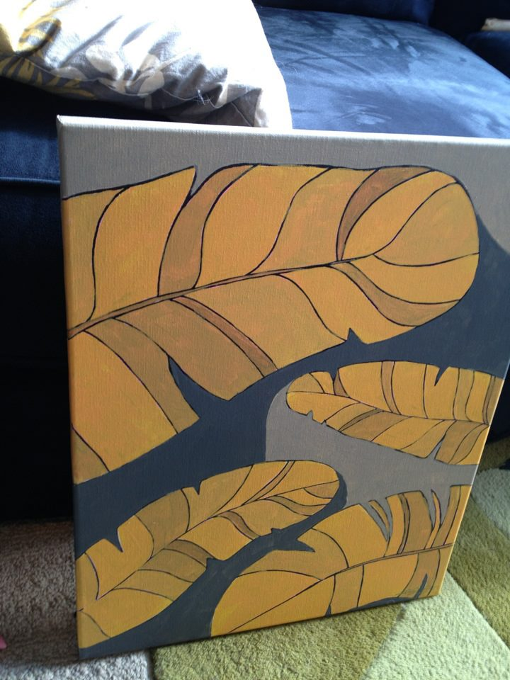 Golden Feathers painting by Kristen Lourie Winnipeg MB