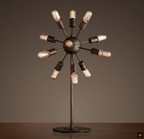 restoration hardware sputnik tablelamp