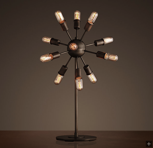 restoration hardware sputnik tablelamp