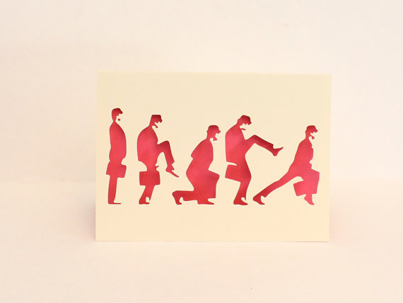 Monty Python Silly Walks greeting card