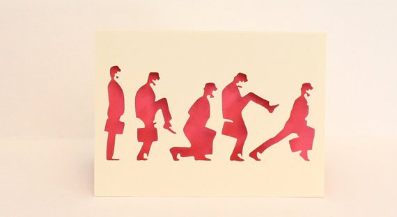 Monty Python Silly Walks greeting card