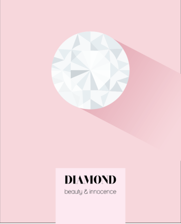 April birthstone diamond print
