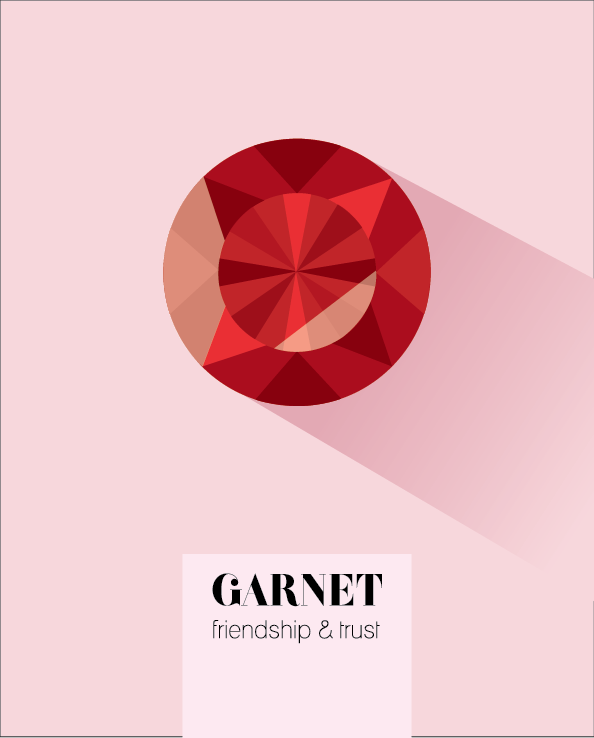 January Birthstone Garnet print