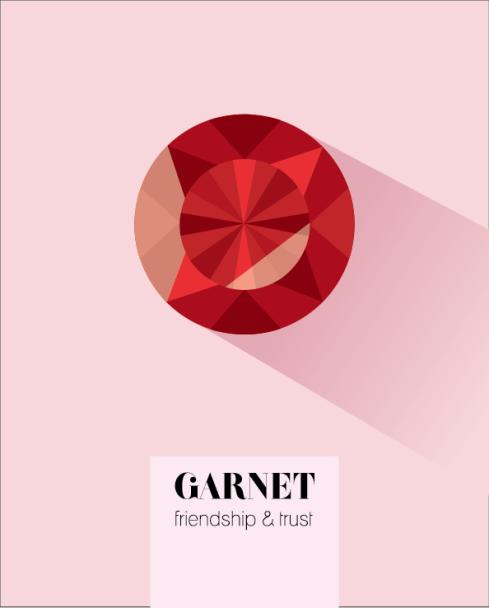 January Birthstone Garnet print