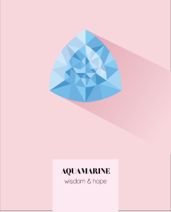 Aquamarine birthstone print