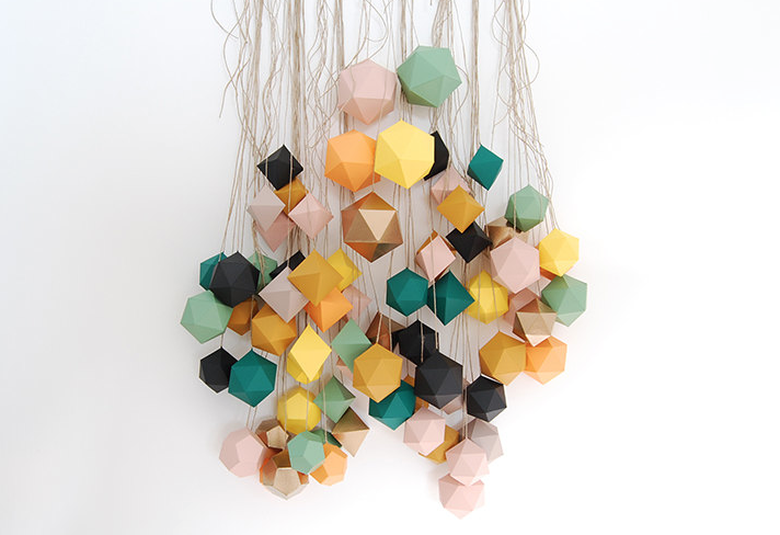 geometric origami decorations