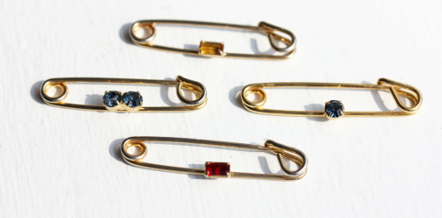 vintage safety pin jewellery