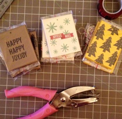 Christmas tags made in Winnipeg