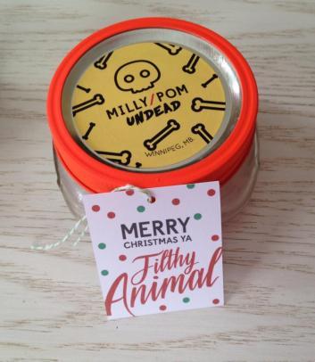 Merry Christmas Ya Filthy Animal gift tag