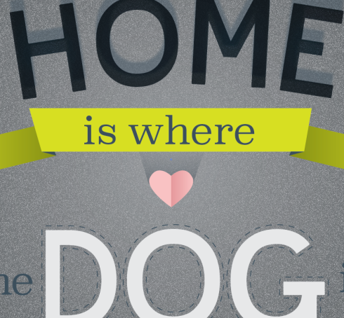 home is where the dog is print