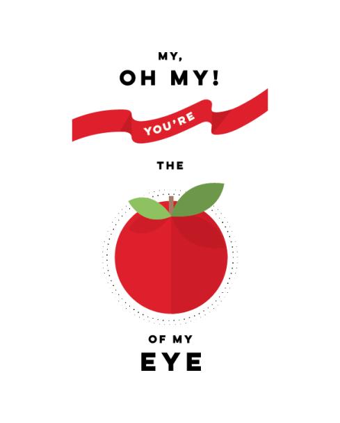 apple of my eye valentines day print