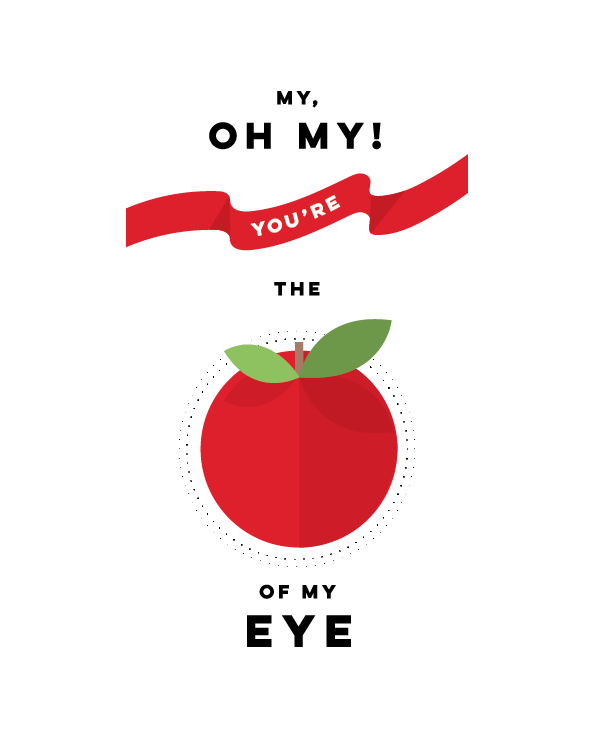apple of my eye valentines day print