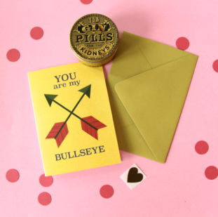kristen lourie valentines day cards you are my bullseye