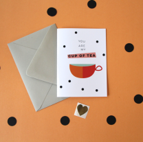 kristen lourie valentine's day cards you are my cup of tea