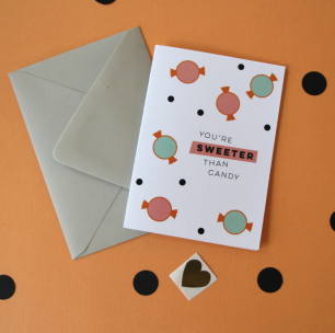 kristen lourie valentine's day cards you're sweeter than candy