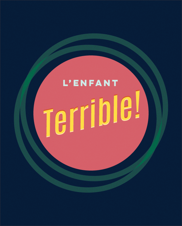 French Expression L'Enfant Terrible print by Kristen Lourie