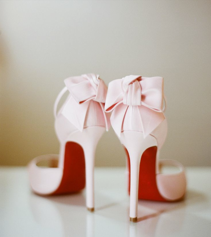 pink and red louboutin shoes