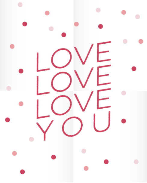 love love love you print by Kristen Lourie