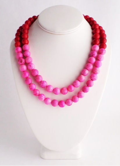 pink and red etsy necklace
