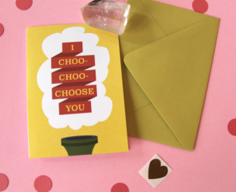 kristen lourie valentines day cards I Choo Choo Choose you Simpsons