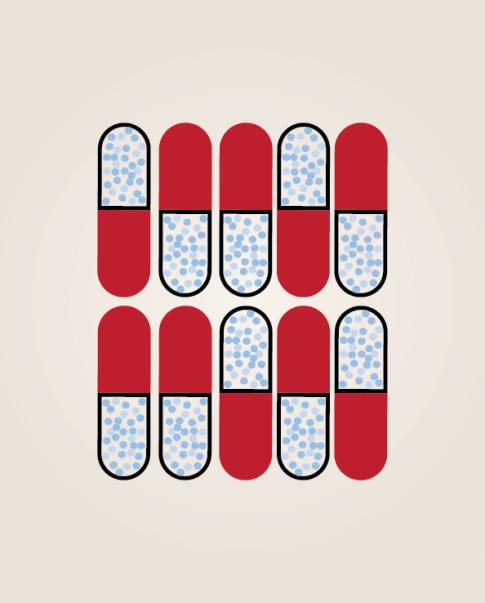 pop art pill pattern print