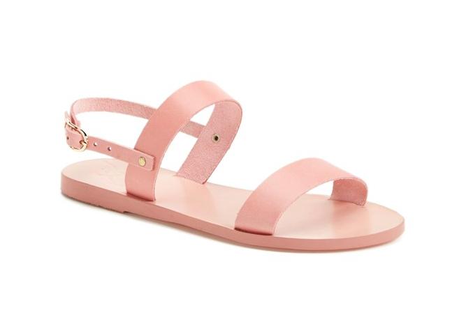 light pink leather sandal