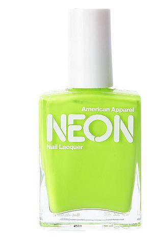 neon green nail polish