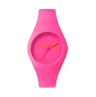 neon pink ice watch