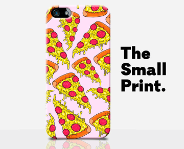 retro 1990s pizza pattern iphone case