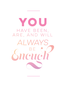 you are enough print pink