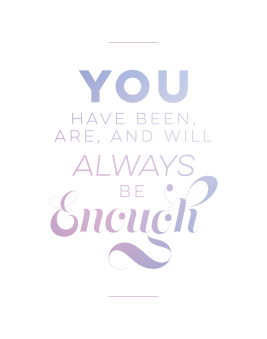 you are enough print blue