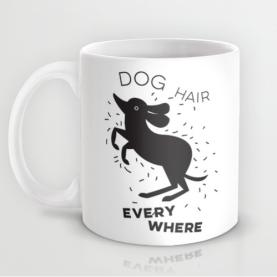 dog hair everywhere funny mug kristen lourie