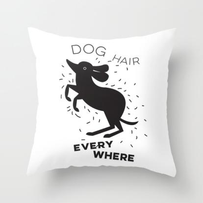 dog hair everywhere kristen lourie pillow