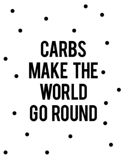 funny food carb print