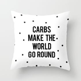 funny food carb pillow