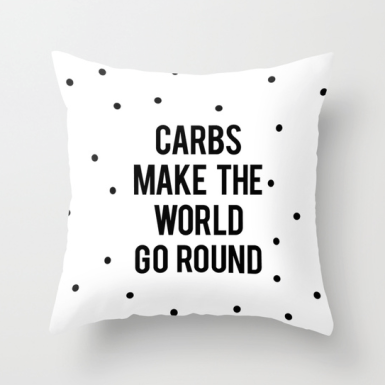 funny food carb pillow