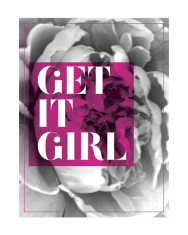 get it girl print by Kristen Lourie