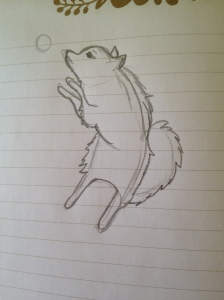 pomeranian drawing sketch