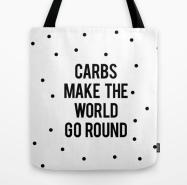 funny food tote bag