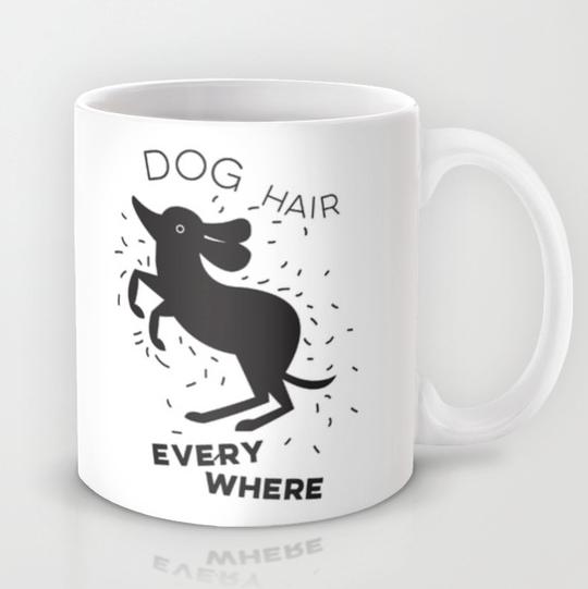 dog hair mug weiner dog funny