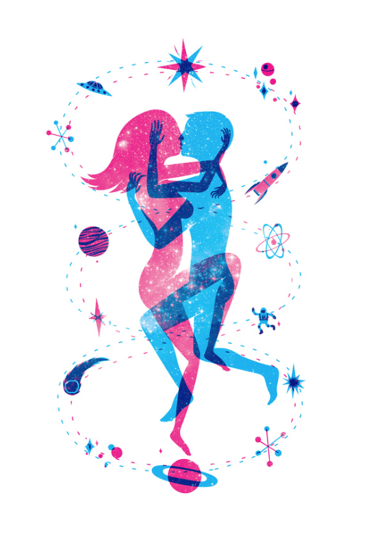 written in the stars print of lovers by Wharton