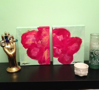 abstract flower painting by Kristen Lourie Winnipeg Manitoba