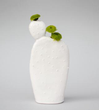 cactus shaped vase by olis cupboard