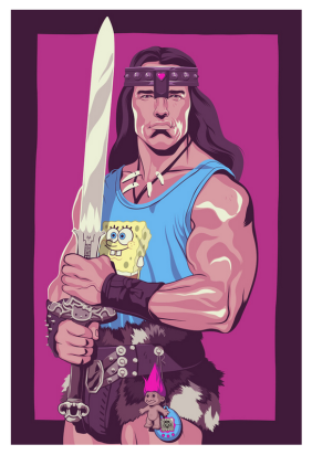 conan the barbarian by Mike Wrobel