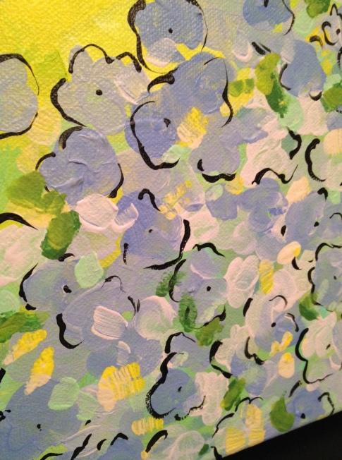 Hydrangea painting by Kristen Lourie Winnipeg 3