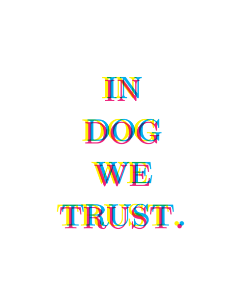in dog we trust funny dog lover print on etsy